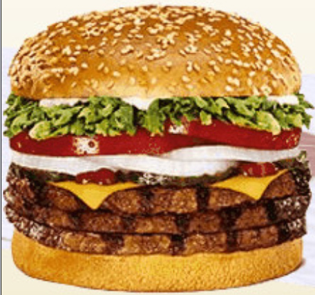 Double whopper with cheese for American cuisine facts