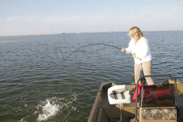 Hot fishing spots in galveston for Choptank river fishing report