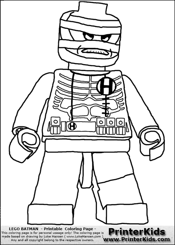 Killer Moth Lego Coloring Pages