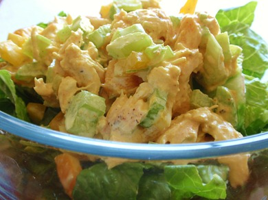 Mango Chicken Curry Salad