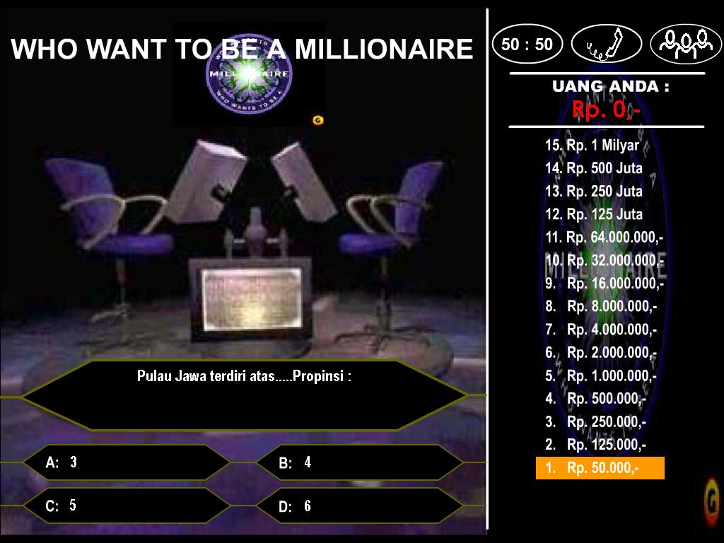 Who wants to be a millionaire template game for Who want to be a millionaire game template