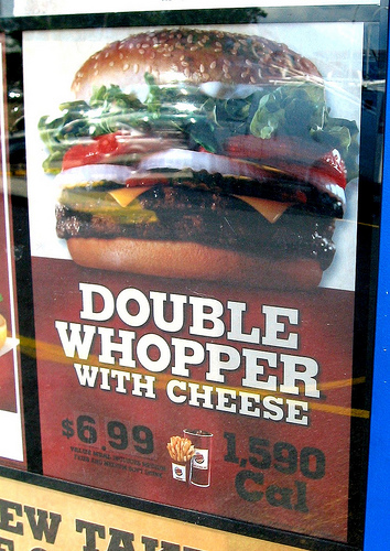 how many calories are in a whopper with cheese